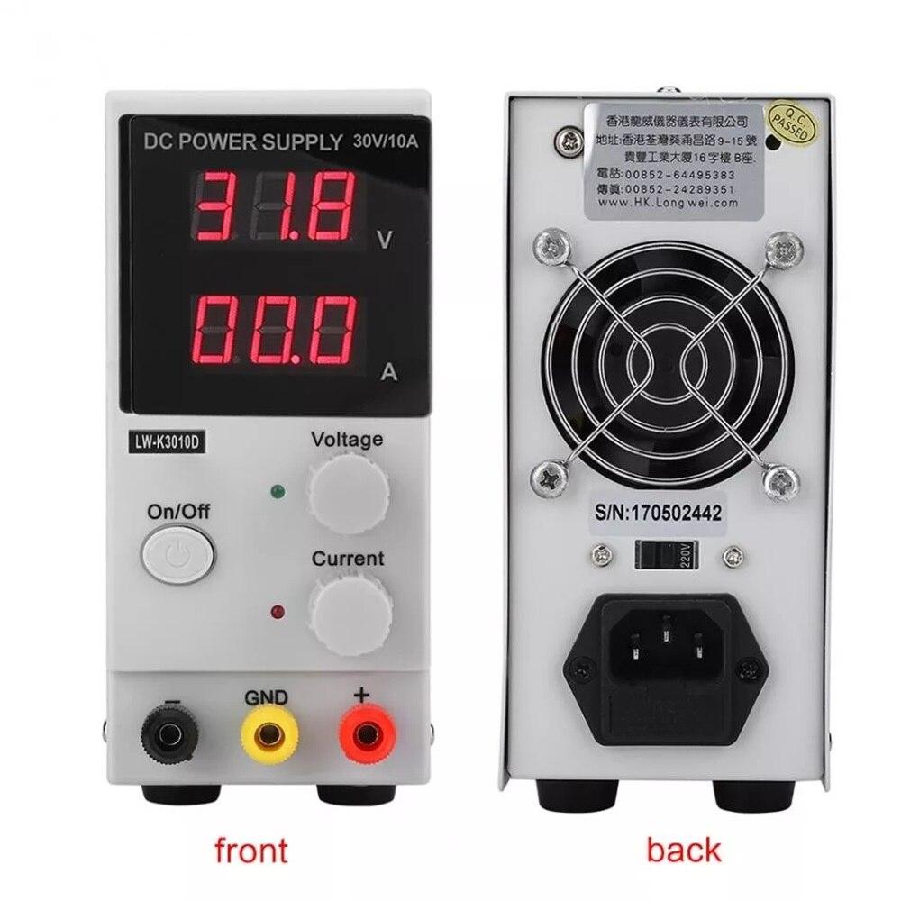 Régulateur de tension numérique d'alimentation réglable 30V 10A DC contrôleur de puissance de LED d'alimentation de laboratoire LW-K3010D 110 V/220 V - 4