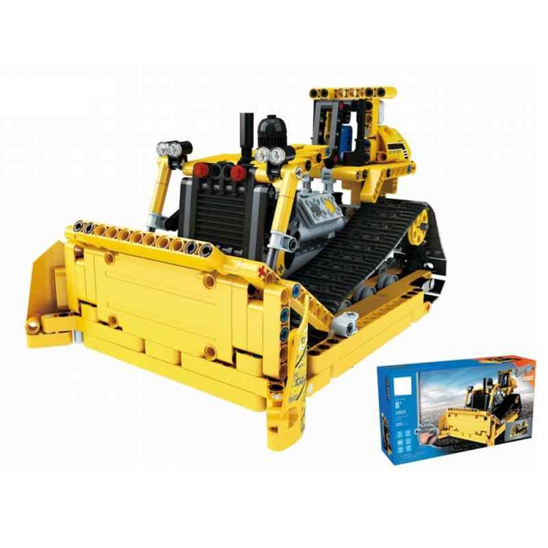 RC инженерный грузовик DIY сборка автомобиля строительный блок игрушки 2,4 ГГц 4CH нагрузка горный грузовик Pushdozer Трактор Игрушки для детей