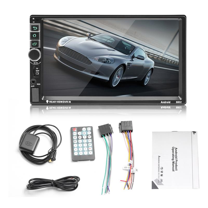 2 Din Android Video Player Auto Radio Touch Screen MP5 Remote Control Wifi Bluetooth Connection Car Radio Build in GPS Navigator