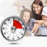 Portable Magnetic Manual Alarm Stainless Steel Visual Kitchen Baking Countdown