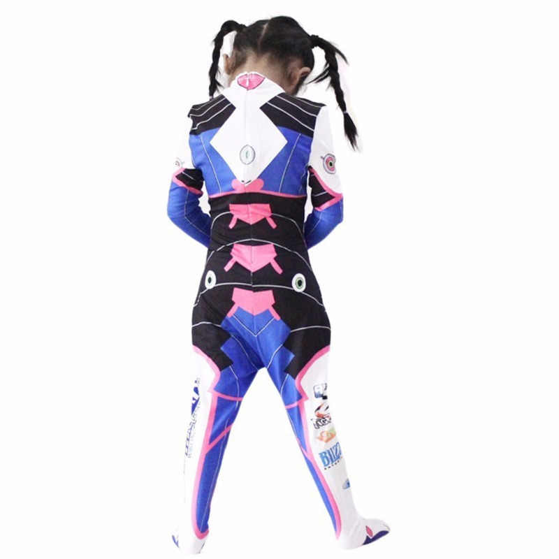 Oyun OW D. R e r e r e r e r e r e r e r e r e r e Dva Cosplay kostüm Hana şarkı seksi 3D baskı Bodysuit yetişkinler çocuklar Lycra Spandex kostüm