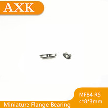 цены 2019 Limited Sale Free Shipping Mf84-2rs Bearing 4x8x3mm ( 10 Pcs ) Abec-1 Miniature Flanged Mf84rs Ball Bearings Lf-840dd
