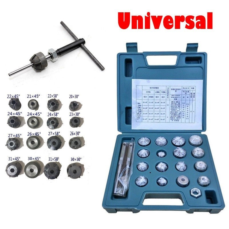 Valve Seat Reamer Motorcycle Repair Cutter Valve Tool Set Fit For Honda Suzuki