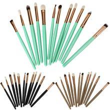 12 шт глаз Макияж набор кисточек для теней пудра карандаш для век губная помада Профессиональный инструмент глаза Красота наборы кистей для макияжа