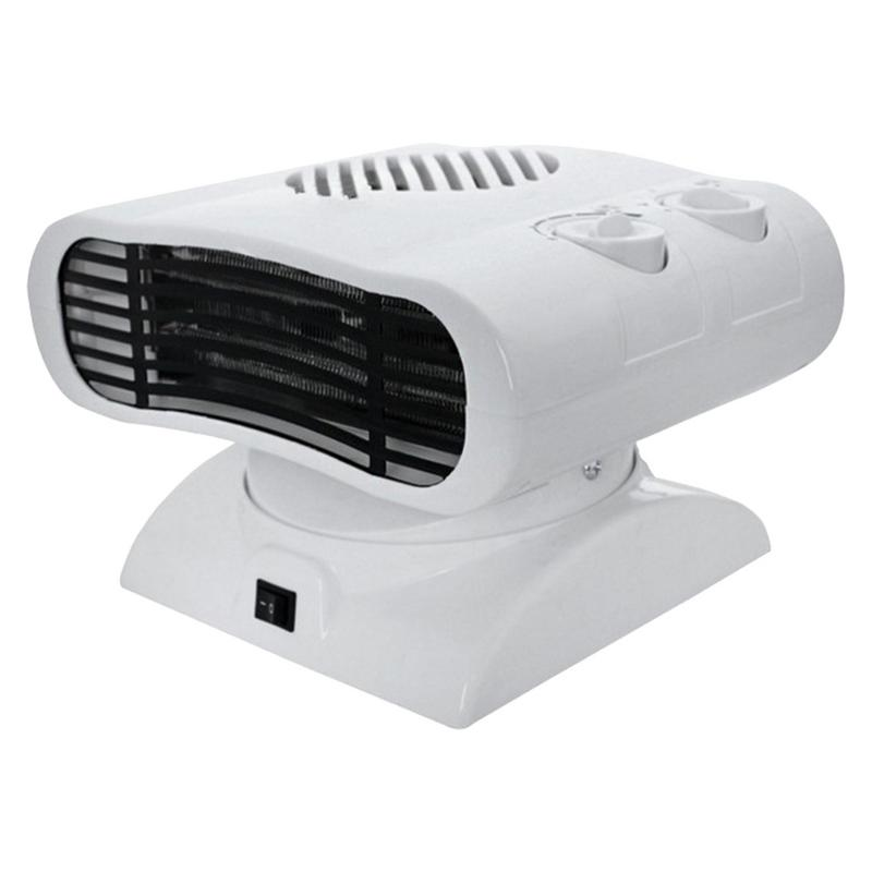 220V Portable Waterproof Fan Heater Adjustable Temperature Dual-Use Small Air Conditioner Electric Shaking Head Cooling Machine