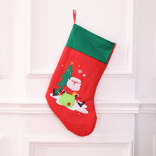 10 Pcs/Lot Red Santa Claus Christmas Xmas Socks Stockings Sack Decorations Candy Gift Bags for Children Home Tree 2018