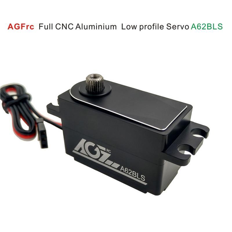 AGF A62BLS CNC complet boîtier en Aluminium profil bas 12Kg Torquer moteur sans brosse Servo pour voiture 1:8 RC