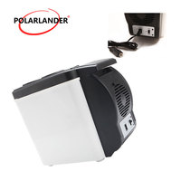 12V Auto Freezer 48W Double Use Warmer Portable 6L Car refrigerator White Mini Fridge Multi Function Home Cooler ABS