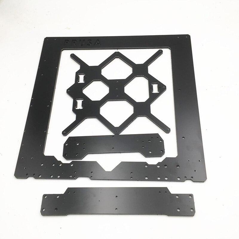 Reprap prusa i3 mk3 quadro diy mk3 i3 alumínio composit única folha quadro 6mm melamina prusa i3 acessório de impressora 3d