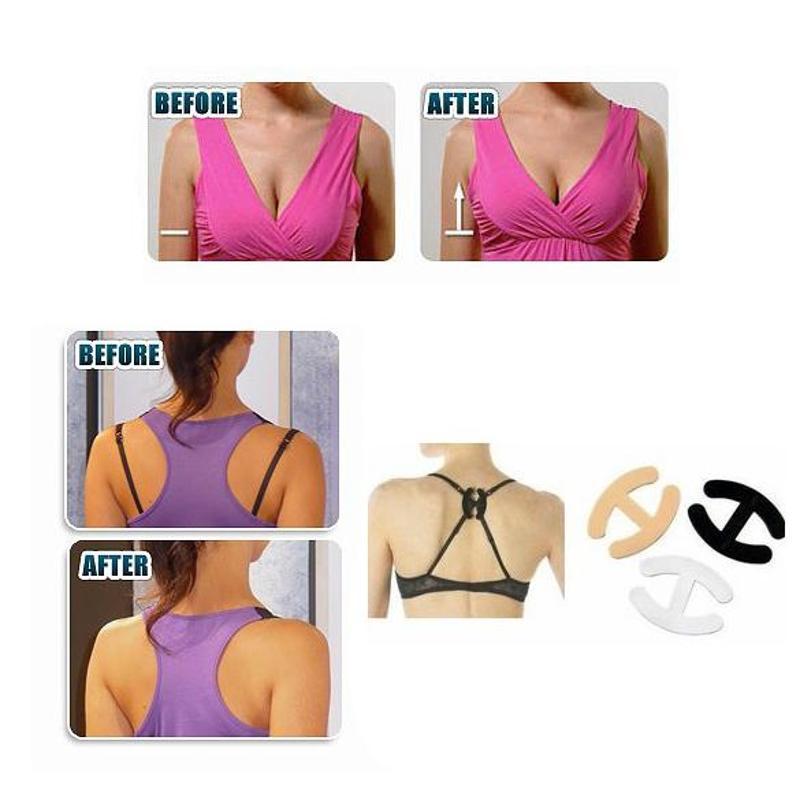 5 Clips Non-slip Buckle Hide Converter Women's Push Up Cleavage Control Invisible Bra Strap Belt Clip Buckle Wholesale