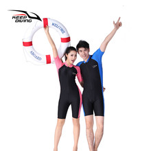Keep Diving Lycra Wetsuit Stinger Wet Suits Diving Skin For Men Or Women One-piece Short Sleeve Jump Suit Swimsuit Swimwear(China)