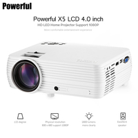 Powerful X5 LCD Portable Mini Projector 1800 Lumens LED Cinema Video Digital HD Home Theater Video Projector With USB HDMI 1080P