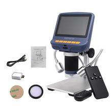 4.3 inç LCD dijital mikroskop dayanıklı USB ayarlanabilir işık mikroskop HD LED ekran telefonu tamir lehimleme araçları