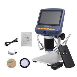 Image 1 - Màn Hình LCD 4.3 Inch Kính Hiển Vi Kỹ Thuật Số Bền USB Điều Chỉnh Ánh Sáng Kính Hiển Vi HD Màn Hình Hiển Thị Đèn LED Cho Sửa Chữa Điện Thoại Hàn Dụng Cụ
