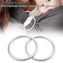 2Pcs Set New Arrival Baby Carriers Aluminium Baby Sling Rings For Baby Carriers amp Slings High Quality Baby Carriers Accessories cheap FTVOGUE Aluminum Ring Polyester Solid 0-36 Months 20kg Face-to-Face Backpacks Carriers Sliver 8 7cm