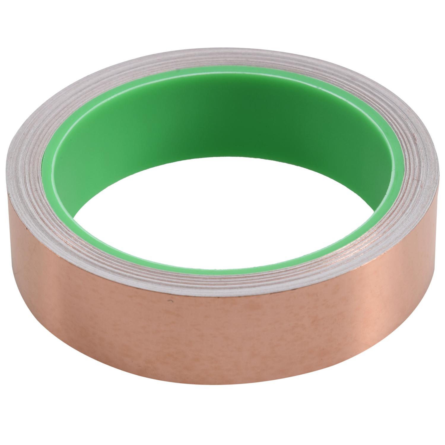 Copper Foil Tape with Conductive Adhesive (25mm X 11meters) - Slug Repellent, EMI Shielding, Stained Glass, Paper Circuits, El