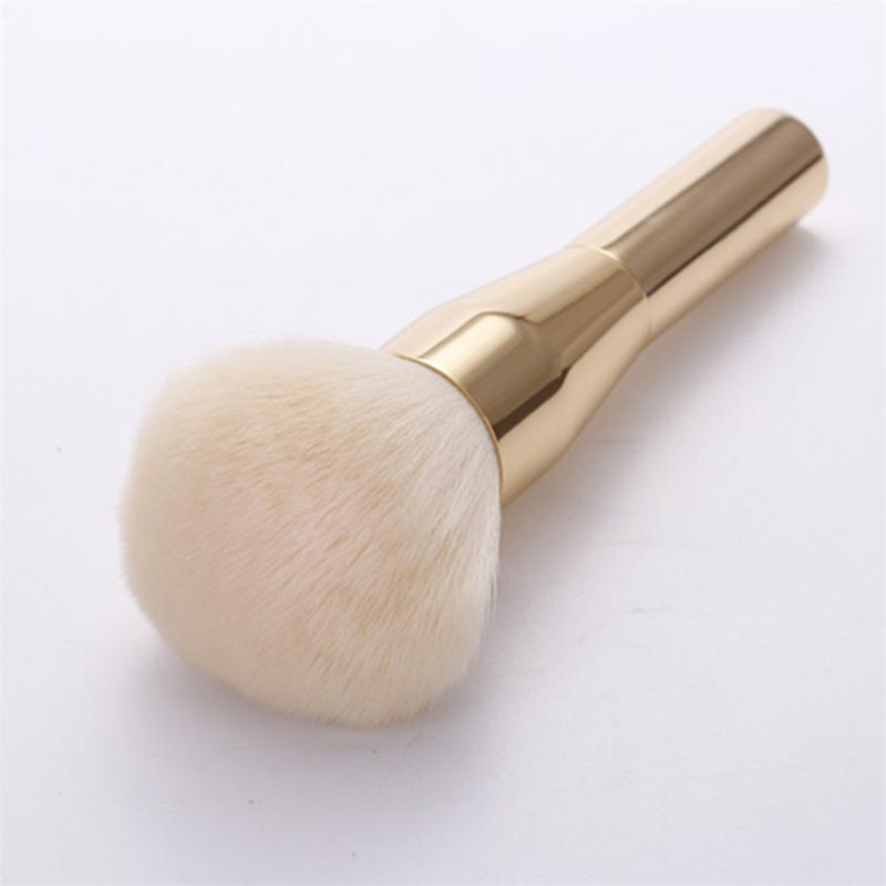 1Pc Big Beauty Soft Powder Blush Makeup Brushes Foundation Round Aluminum Make Up Brushes Cosmetics Face Makeup Brush