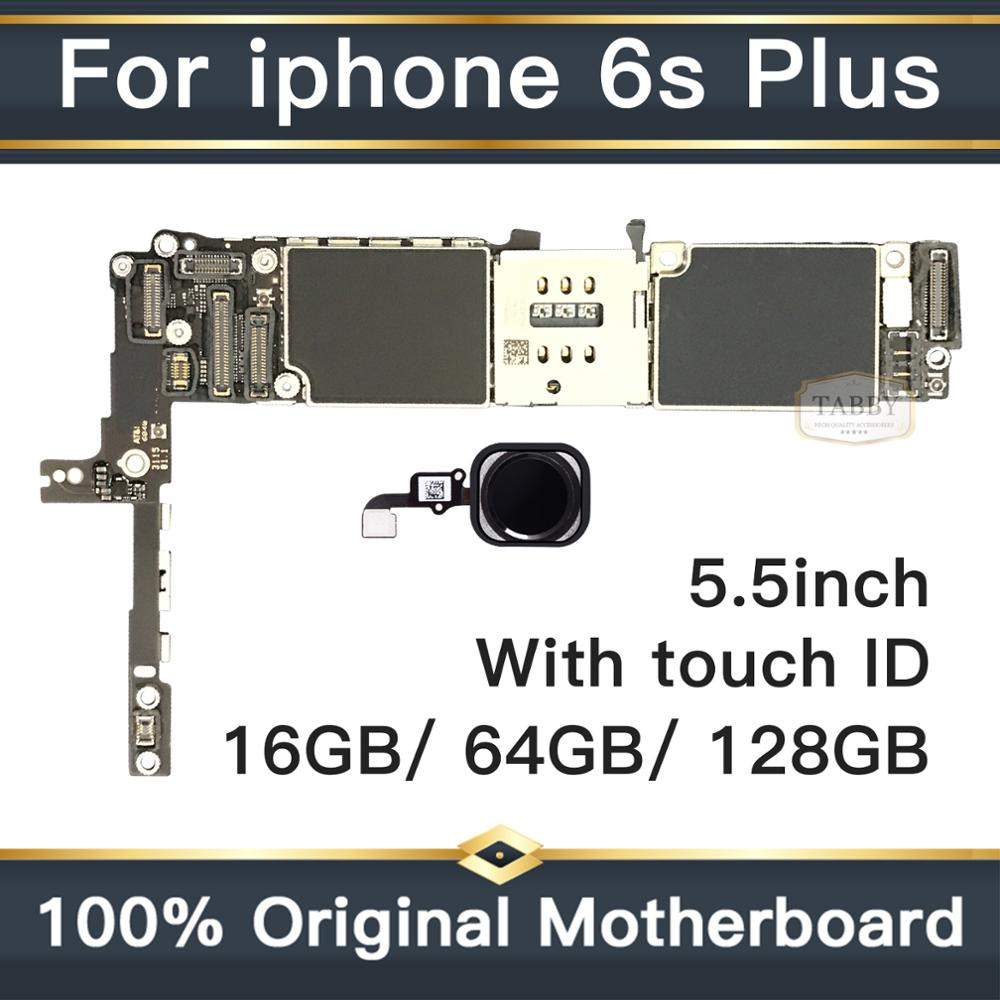 For iPhone 6S Plus 5.5inch Original Motherboard Factory Unlock Mainboard With Touch ID Full Functions logic board 16GB/64GB/128G image