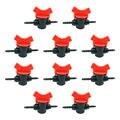 10 шт. 4 мм ПВХ трубы прямой клапан 4/7 капиллярные ПВХ трубы фитинги для орошения сада системы полива переключатель управления