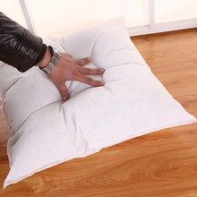 Relleno de Cojín cuadrado, insertos de almohada, núcleo natural sólido de cojín, almohadas para sofá y cama de 45x45 cm