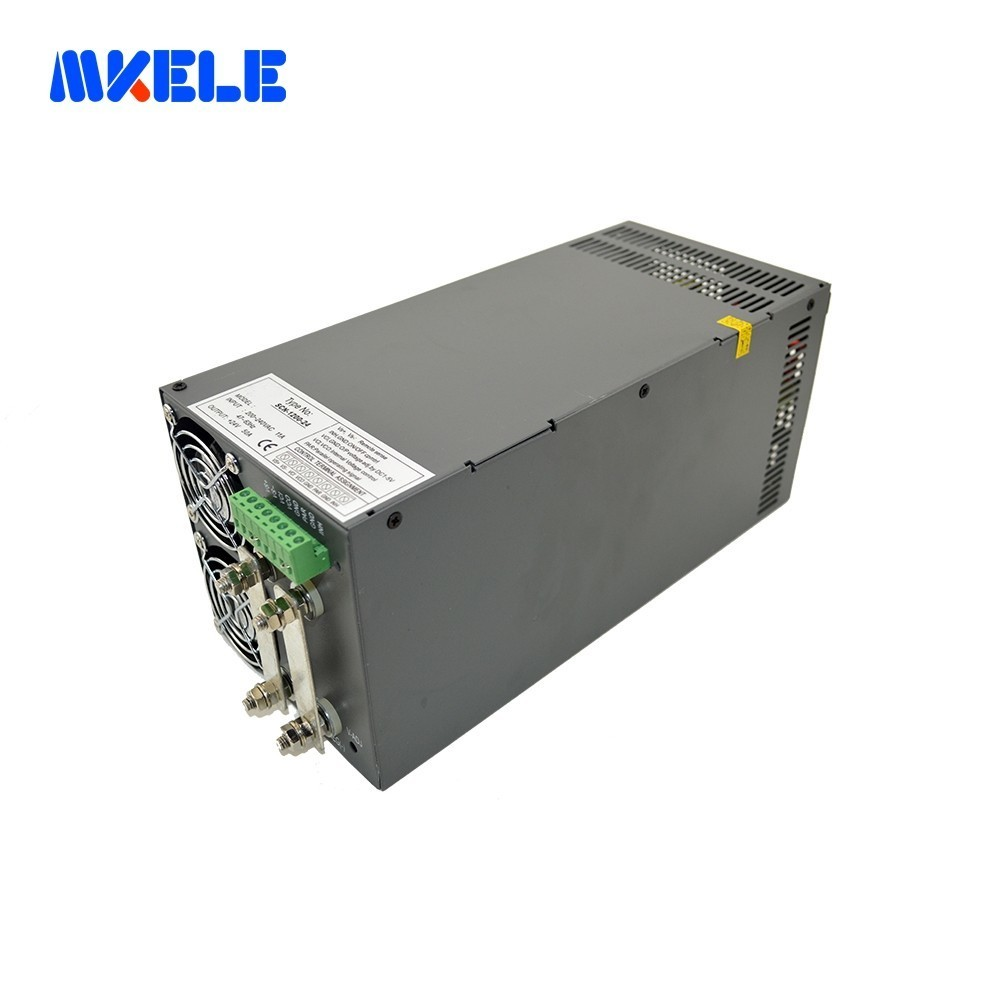 1200W Single Output Switching power supply laboratory use high efficiency SCN-1200-12/24/48 for safe package wide range input