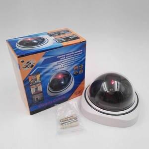Image 5 - Wsdcam caméra de sécurité intelligente vidéosurveillance, dôme, intérieur/extérieur, en plastique, faux CCTV, avec clignotant, LED lumières rouges