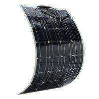 KINCO Light 18 в 100 Вт монокристаллическая полугибкая солнечная панель DIY портативная солнечная батарея с кабелем 1,5 м для автомобиля батарея