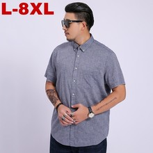 10xl 8xl 6xl 5xl 2019 Summer New Men Shirt Fashion Plaid Printing Male Casual Short Sleeve Large Size Brand Mens Clothing