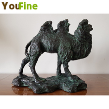 Pure copper casting double peak camel small pieces interior decoration bronze high-grade ornaments