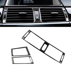 Image 2 - For BMW X5 X6 E70 E71 2008 2009 2010 2011 2012 2013 Carbon Fiber Car Center / Side Air Condition Air Vent Outlet Cover
