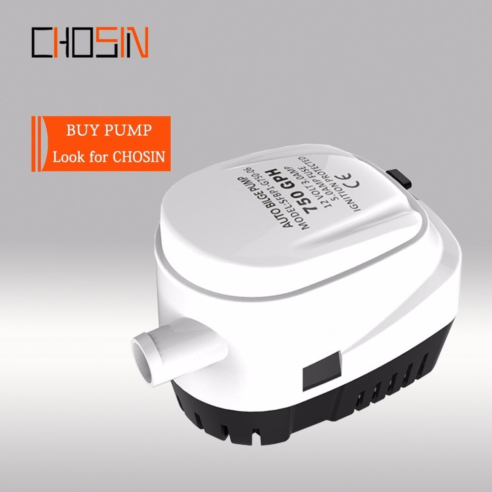 <font><b>750GPH</b></font> 1100GPH Automatic Boat <font><b>Bilge</b></font> <font><b>Pump</b></font> <font><b>12v</b></font> 24v Auto Dc Submersible Electric Water <font><b>Pump</b></font> Small 12 V Volt 750/1100 Gph image
