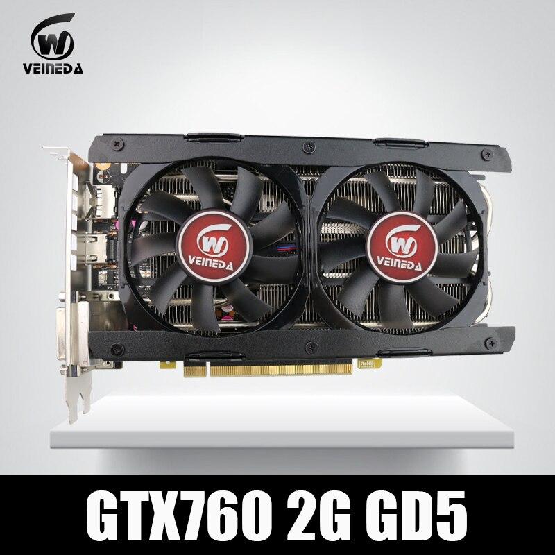 Vidéo Carte Veineda GTX760 2 gb GDDR5 256Bit 6004 mhz DVI HDMI plus fort que GTX950, GTX750Ti