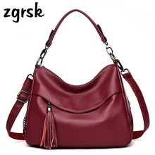 Woman Leather Handbags Fashion Women Shoulder Bag Luxury Brand Sheepskin Messenger Bags Designer Ladies Bolso