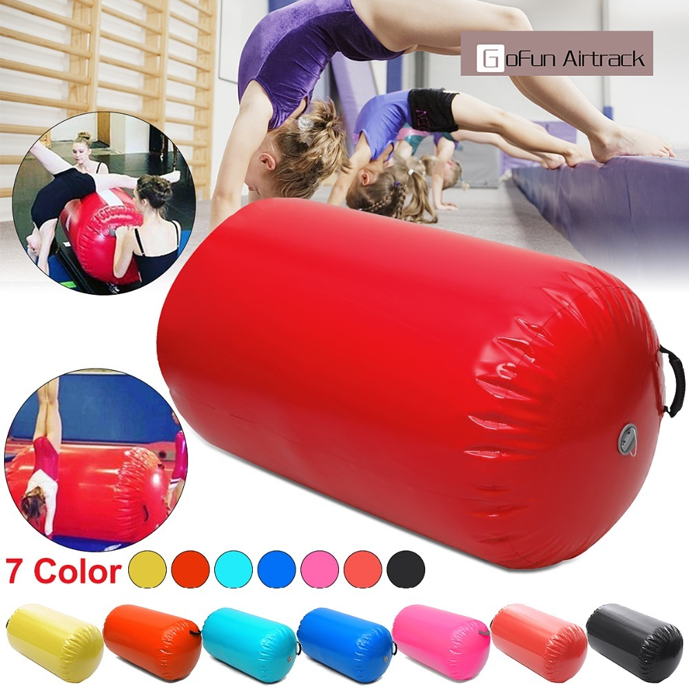 Inflatable Bouncer Juegos Inflables 100x60/80cm Fitness Inflatable Air Roller Home Large Yoga Gymnastics Cylinder Gym Mat Beam Inflatable Bouncers     - title=