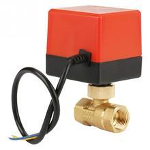 Válvula eléctrica de bola motorizada de 2 vías de latón DC 12V G1/2 DN15 para herramientas de Control de flujo de alta calidad para hvac Fan Coil Neutral Wire