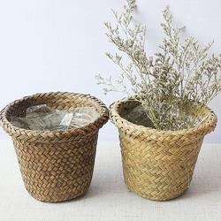 Цветочный горшок садовый Горшок Офис ящик для цветов Декор ваза сидения трава свадьба цветок корзина для хранения Круглый Природа col