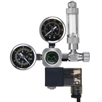 220V Durable Aquarium CO2 Regulator G5/8 Magnetic Solenoid Check Valve Aquarium Bubble Counter Fish Tank Tool CO2 Control