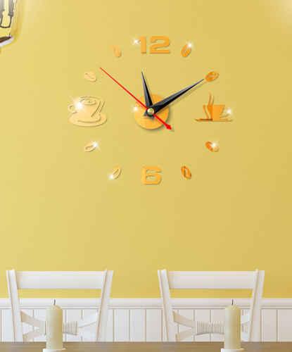 DIY 3D Numer Zegar Ścienny Lustro Naklejka Home Office Decor Art Naklejka Naklejka Pokój Projekt nowoczesny design Cichy Zegar