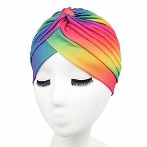 Image 2 - Sombrero de verano con estampado para mujer, gorro de quimio con estampado, bufanda musulmana islámica, turbante elástico, gorro envolvente, accesorios de sombrero para la caída del cabello
