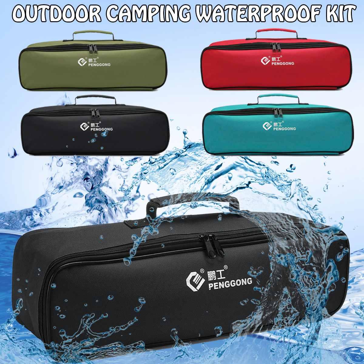 Waterproof Tool Bag Oxford Cloth Storage Hand Tool Bag Electrician Storage Screws Drill Bit Bag Portable Organizer Pouch Case
