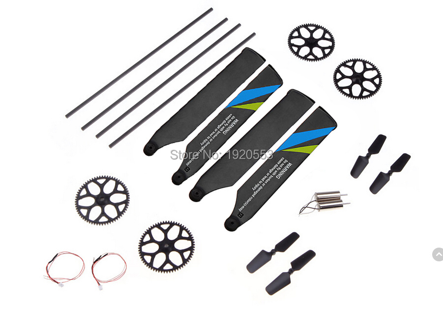 Responsible Accessories Bag For Wltoys V977 6ch Rc Helicopter Spare Parts Main Tail Blades Gears Swashplate Spare No Cost At Any Cost Tool Parts