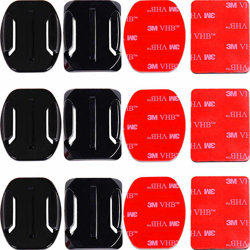 Adhesive Mounts For GoPro 7 6 5 4 3 Curved Flat Mounts 3M Sticky Pads for Go Pro Xiaomi Yi SJCAM Action Camera Helmet Board Car