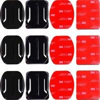 Клейкие крепления для GoPro 8 7 6 5 4 изогнутые плоские крепления 3 м липкие прокладки для Go Pro Xiaomi Yi SJCAM Экшн камеры шлем доска автомобиля