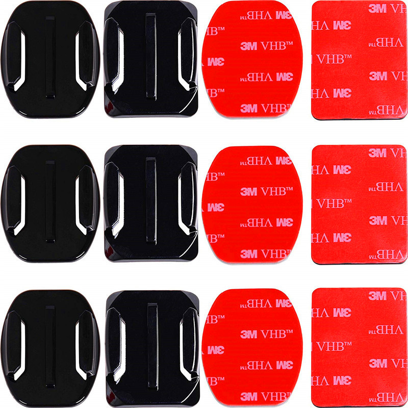 Adhesive Mounts For GoPro 8 7 6 5 4 Curved Flat Mounts 3M Sticky Pads for Go Pro Xiaomi Yi SJCAM Action Camera Helmet Board Car(China)