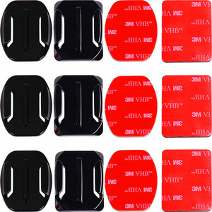 Image 1 - Adhesive Mounts For GoPro 8 7 6 5 4  Curved Flat Mounts 3M Sticky Pads for Go Pro Xiaomi Yi SJCAM Action Camera Helmet Board Car