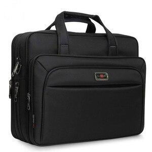 """Image 1 - Erkek çanta iş evrak çantası büyük kapasiteli erkekler tek omuz çantası 14 """"15.6"""" 16 """"dizüstü bilgisayar çantası HP Dell Lenovo Apple Ipad"""
