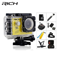 RICH Action Camera HD wifi 1080P go 2.0 Inch pro underwater cameras 30M Waterproof Mini Sports camera Photo outdoor action cam