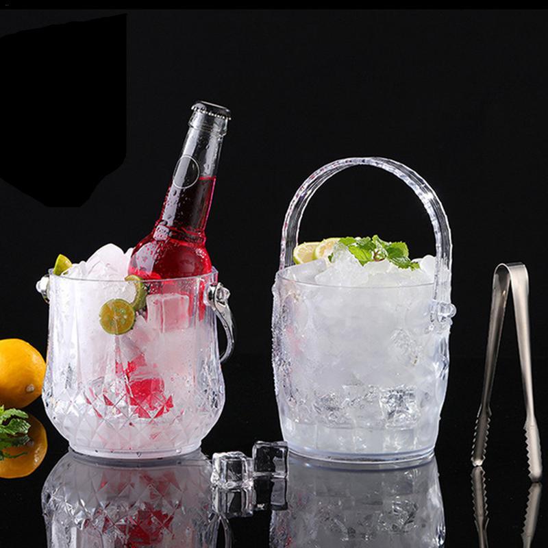 Acrylic Ice Bucket With Handles Creative Punch Barrel