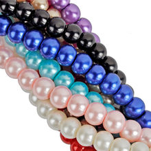 Glass Pearl Spacer Loose Beads New High-quality Jewelry Findings 4 6 8 10mm Wholesale Charms Hot(China)