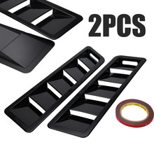 For Ford Mustang 2pcs ABS Bonnet Hood Vent Louver Panel Matte Black Finish Car Exterior Cooling Trim Mayitr(China)
